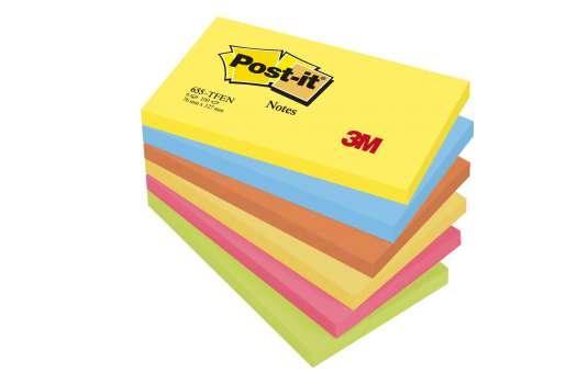 Bloček Post-it barevný 127x76 mm, energie