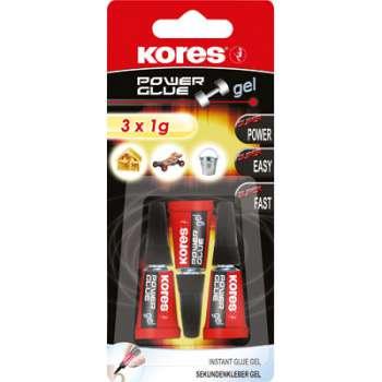 Vteřinové lepidlo Power Glue - Gel, 3 x 1 g - blister