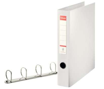 Pořadač plastový čtyřkroužkový Esselte 5,8 cm bílý
