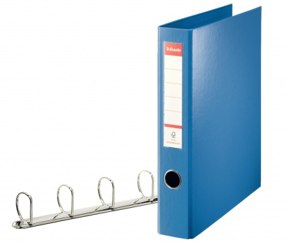 Pořadač plastový čtyřkroužkový Esselte 5,8 cm modrý