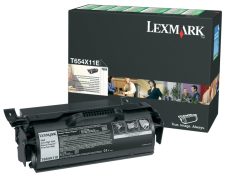 Toner Lexmark T654X11E - černý