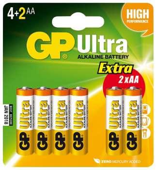 Baterie GP Ultra Alkaline LR6 - 1,5 V, typ AA, 4+2 ks