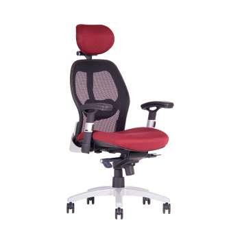 Kancelářská židle Saturn synchro - vínová