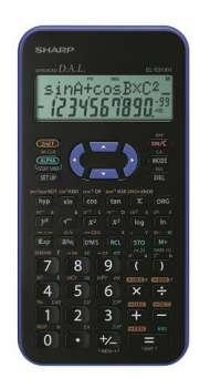 Vědecká kalkulačka Sharp EL-531XH - fialová