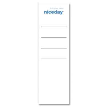 Etikety pro pákové pořadače Niceday - 7,5 cm, 20 ks
