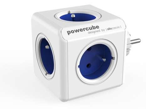 Rozbočka PowerCube Original, 5x zásuvka, modrá