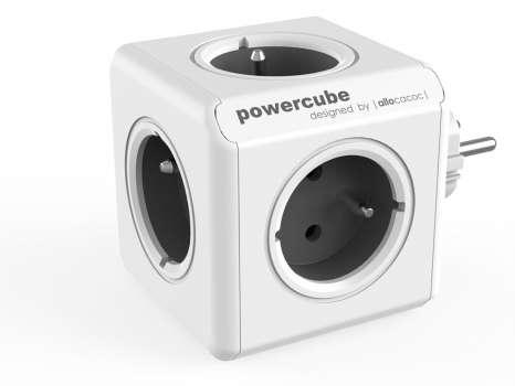 Rozbočka PowerCube Original, 5x zásuvka, šedá