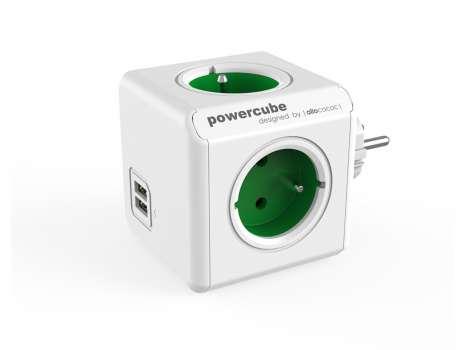 Rozbočka PowerCube Original USB, zelená