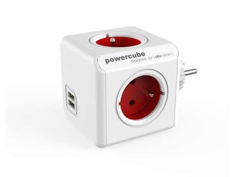 Rozbočka PowerCube Original USB, červená