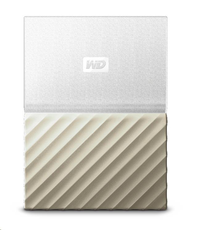 """WD 2.5"""" My Passport Ultra Metal 2TB bílý/zlatý slim"""