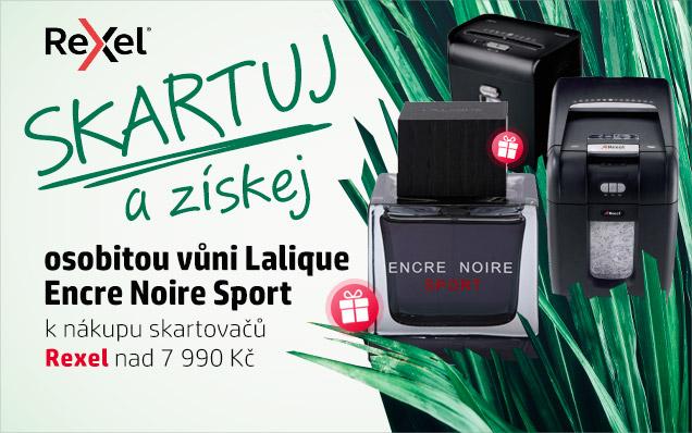 Osobitá vůně Lalique Encre Noire Sport k nákupu skartovaček Rexel!