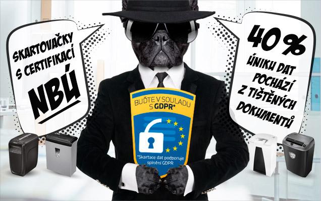 Skartuj s certifikací NBÚ v souladu s GDPR!