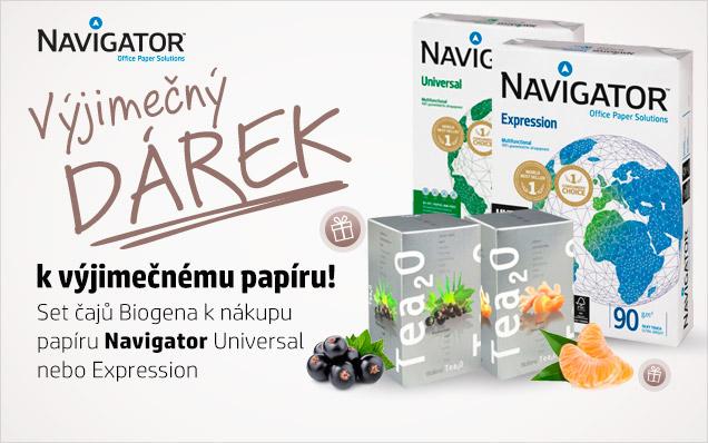 Čaje Biogena ZDARMA k papíru Navigator!