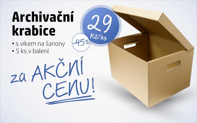 Archivační krabice za AKČNÍ CENU!