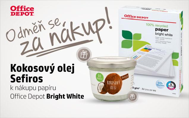 BIO Kokosový olej ZDARMA k papíru Bright White!