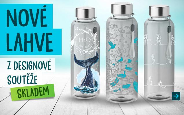 Vítězné lahve z designové soutěže v prodeji!