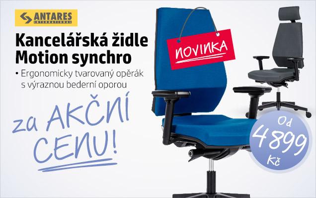 14% SLEVA židle Motion synchro jen za 4899 Kč