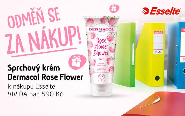 Nakup Esselte VIVIDA a získej DÁREK sprchový krém Rose Flower