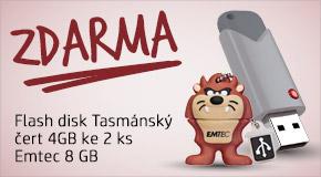 Kupte 2x8GB flash Emtec a ZÍSKEJTE ZDARMA další 4GB