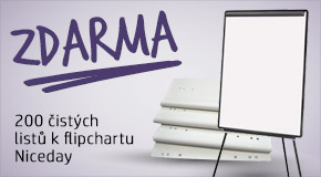 ZÍSKEJ ZDARMA k tomuto flipchartu blok do flipchartu s 200 listy!