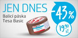 Balicí páska Tesa Basic DNES se 43% SLEVOU!